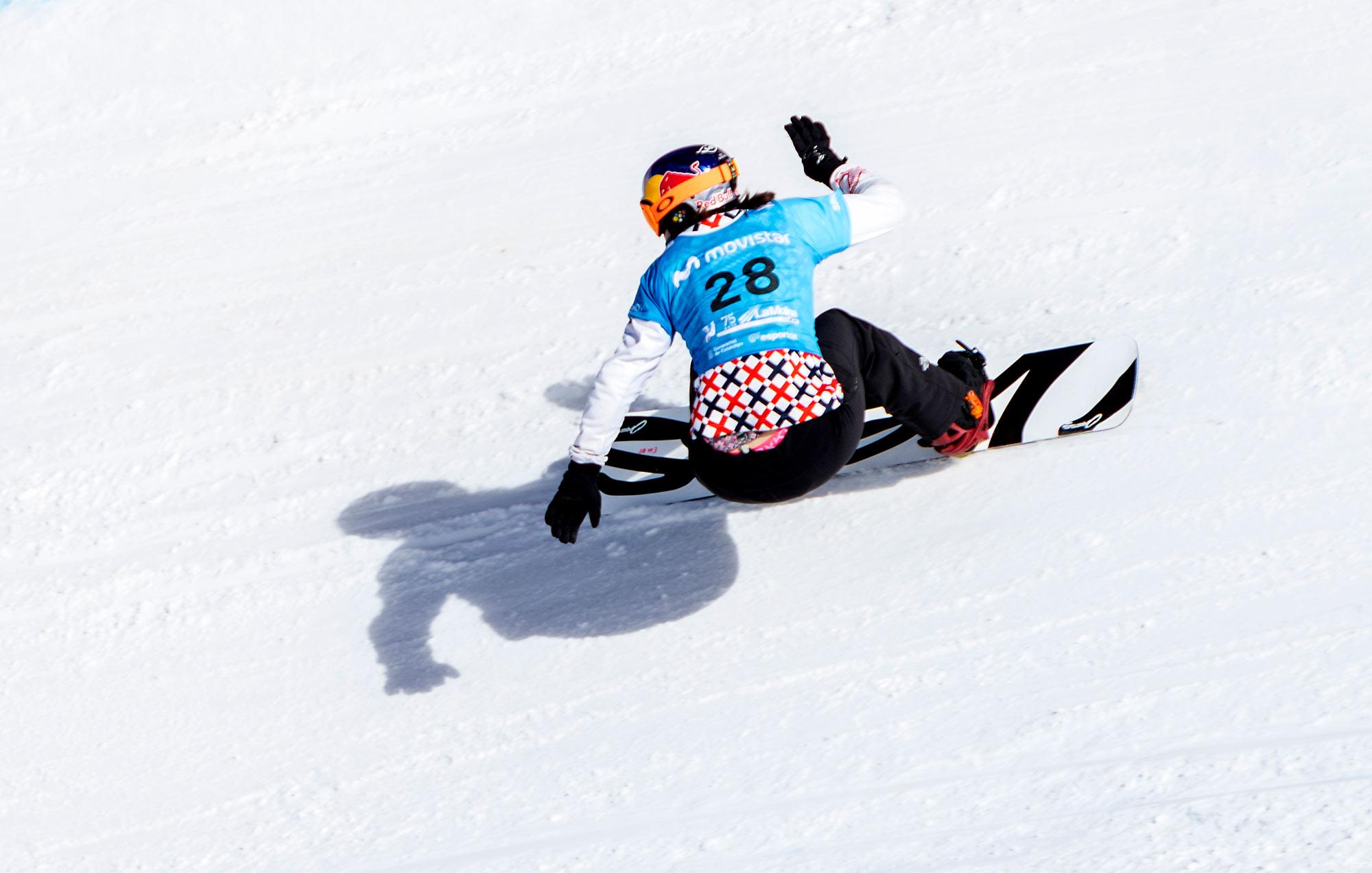 Eva Samkova (CZE) competes in Qualifiers Men SBX World Cup La Molina © Mario Sobrino #SBX #LAMOLINA #WORLDCUP #EVA #SAMKOVA #MARIOSOBRINO