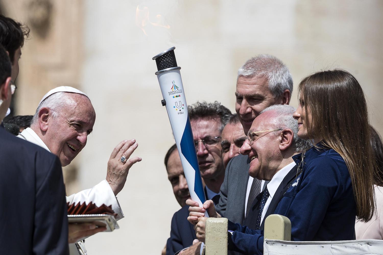 Flame Vatican PopesBlessing